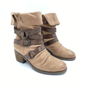 Crown Vintage Strappy Brown Leather  Boots 6.5